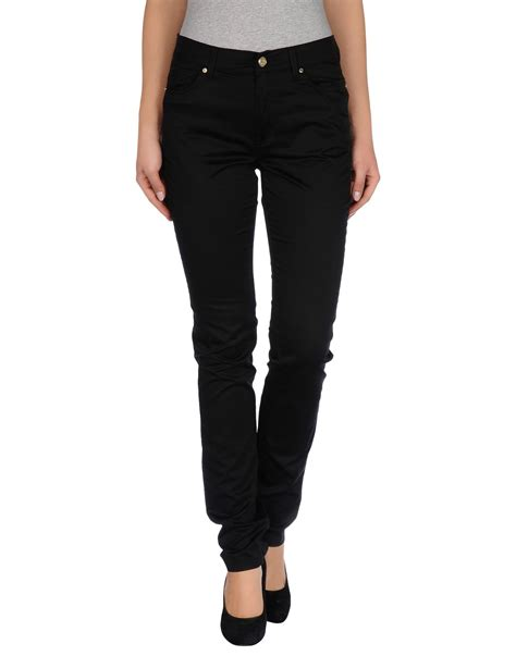versace casual trouser in black lyst