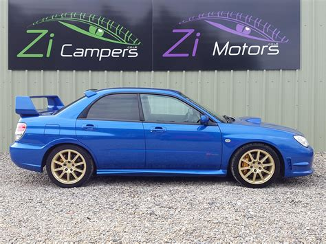 blue subaru gold rims used 2006 subaru impreza sti wrx sti type uk for sale in