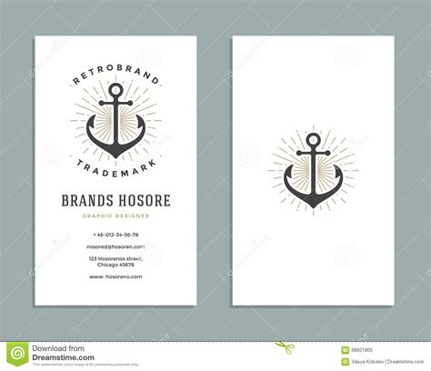 business card logo design template business card design and retro logo template vector