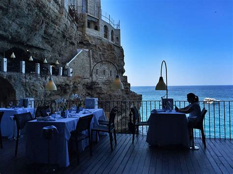 cave restaurant side of a cliff italy grotta palazzese italy s restaurant built inside a cave