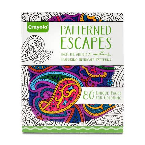 coloring book manufacturers crayola patterned escapes coloring book toys