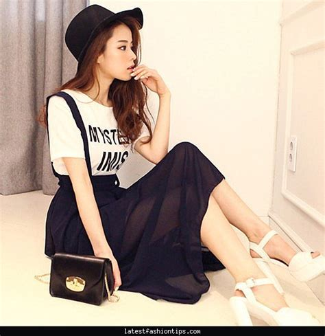 skirt women fashion korean style all match chiffon black high  LatestFashionTips.com
