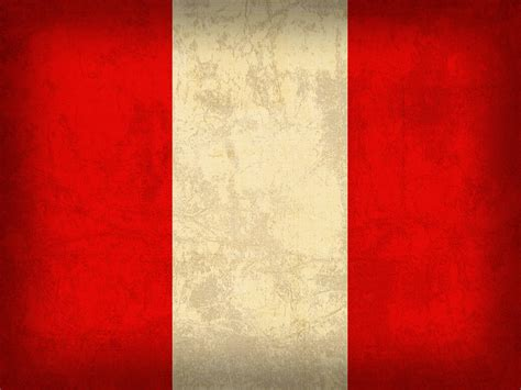 Vintage Shower Curtain - peru flag vintage distressed finish mixed media by design turnpike