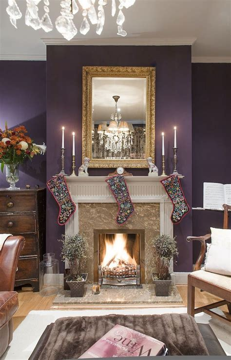 purple living room accessories 10 cozy homes you ll want to snuggle in this winter