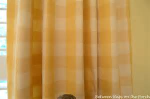 Buffalo check curtains for the office