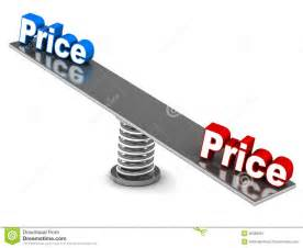 Price On A Price Comparison Royalty Free Stock Photography Image