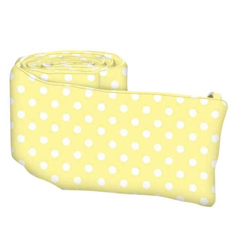 pastel yellow polka dots woven crib bumpers sheetworld