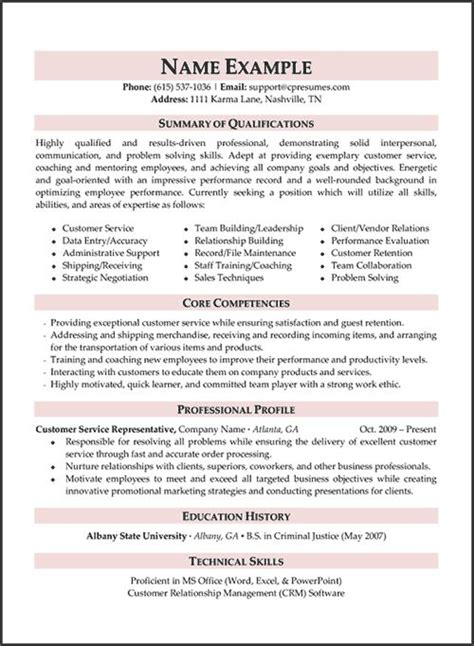 Professional Resume Services by Best 25 Customer Service Resume Ideas On