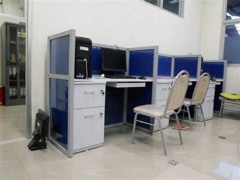 Meja Kerja Kubikel meja kantor plus sekat separuh badan meja kubikel meja