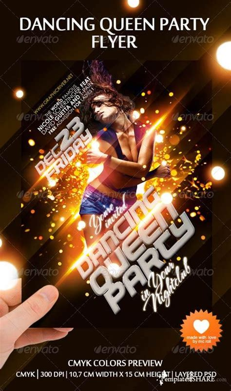 template flyer girl dance graphicriver dancing queen party flyer 187 templates4share