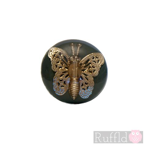 Butterfly Door Knobs by Teal Door Knob Handle With Metal Butterfly Decoration