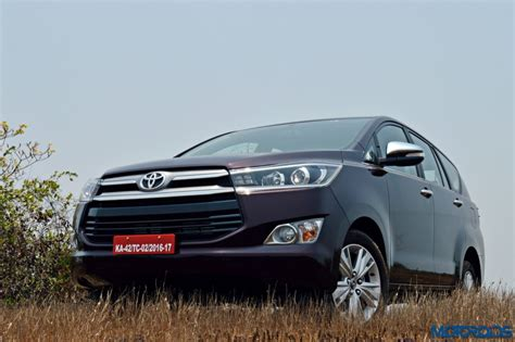 toyota innova resale new toyota innova crysta review 2 8 at and 2 4 mt