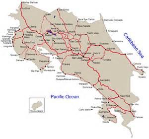 detailed road map of costa rica costa rica stra 223 enkarte
