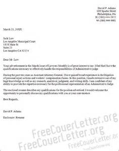 addressing a judge in a cover letter administrative judge cover letter sle