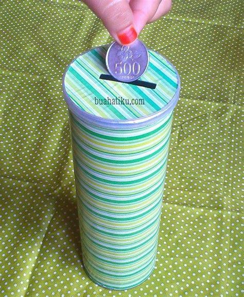 membuat kerajinan dari kaleng bekas cara membuat celengan dari kaleng bekas pringles atau