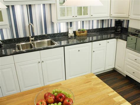 Inexpensive Kitchen Backsplash by Cheap Wallpaper Backsplash An Inexpensive Alternative To