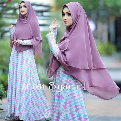 Khimar 3 Layer Pinguin Qinara jual khimar 2 layer nemo