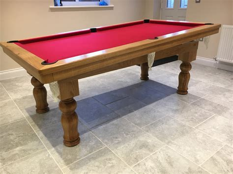 7ft pool dining table modern 7ft pool dining table in oak tulip legs pool