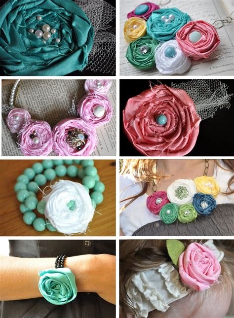 Handmade Fabric Flowers Tutorial - made flowers