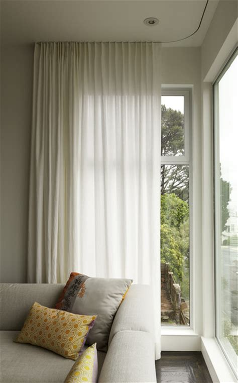 Modern Curtains On Recessed Track Modern Window