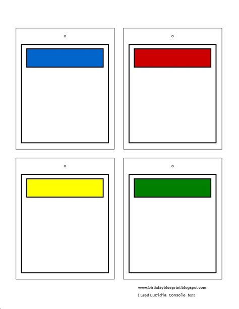 Blank Memory Card Template by Blank Monopoly Property Cards To Write In The Bible