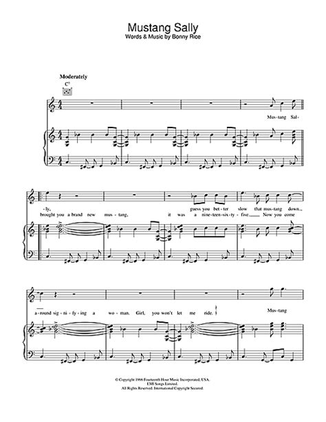 mustang sally ccr mustang sally sheet by the commitments piano vocal