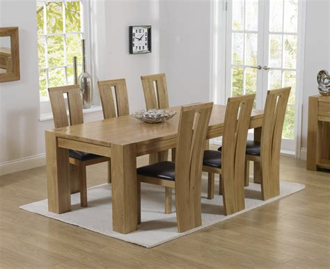 rutland solid chunky oak furniture large dining table