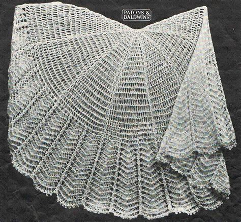 pattern for etsy 40s style circular crochet baby shawl by vanessalovesvintage