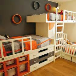 Bunk Bed Designs For Boys 16 Clever Ways To Fit Three Kids In One Bedroom