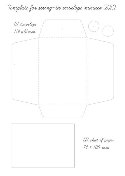 String Templates - string tie envelope template 07 crafts