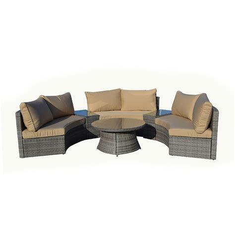 curved patio furniture set kontiki conversation sets wicker sofa sets emily 6