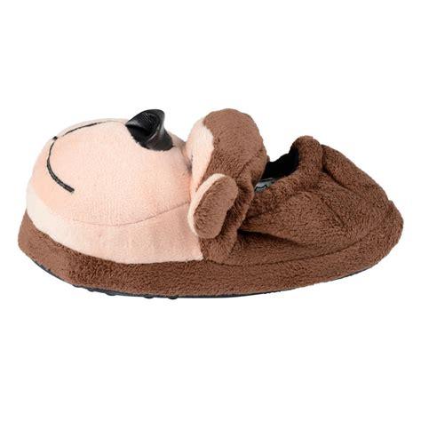 images for slippers childrens novelty animal back slippers