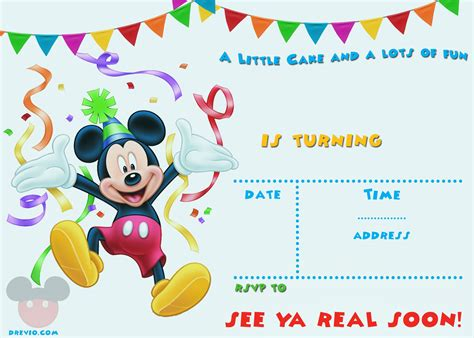 mickey mouse invitations templates free printable mickey mouse invitation template