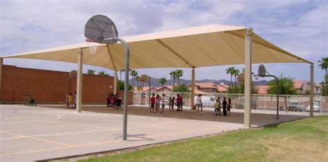 Basketball Court In Backyard Cost Outdoor Basketball Court Shade Shade N Net