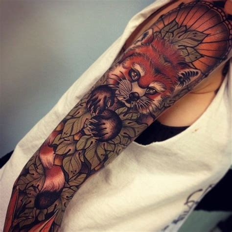 red panda tattoo tumblr red panda sleeve via tumblr without proper credit ink