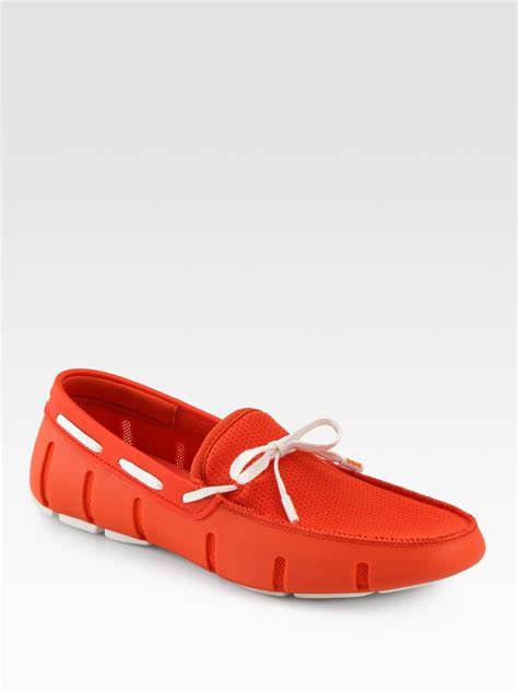 swims rubber loafers swims rubber and mesh loafers in for lyst