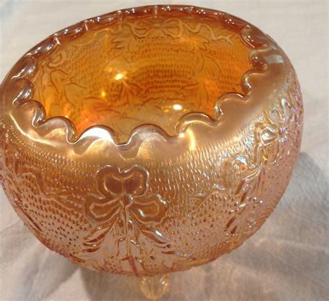 carnival glass bowl by fenton collectors weekly