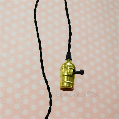 Pendant Light Cord Kit Single Gold Socket Pendant Light L Cord Kit W Dimmer 11ft Ul Approved Black Cloth On