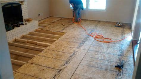 Raising Concrete Floor Height by Sunken Living Room Renov8z