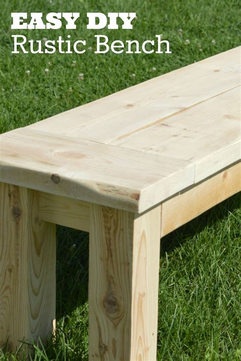 how to make a rustic bench diy rustic seating bench