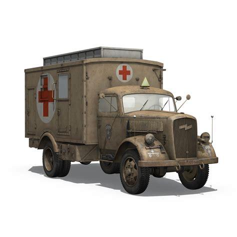 opel blitz opel blitz 3t ambulance truck 21 pzdiv 3d model buy