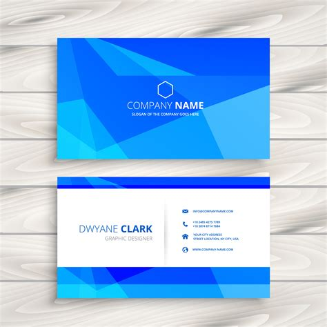 triangle shaped business card template blue triangular shape business card template vector design