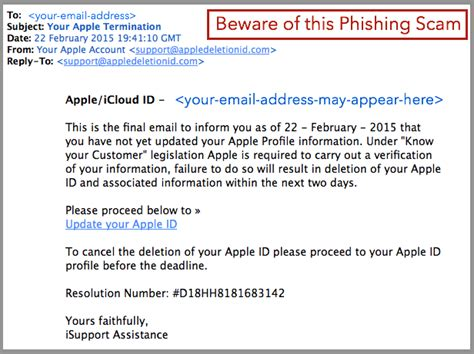 email yahoo phishing new phishing scam fake emails from apple it mortals