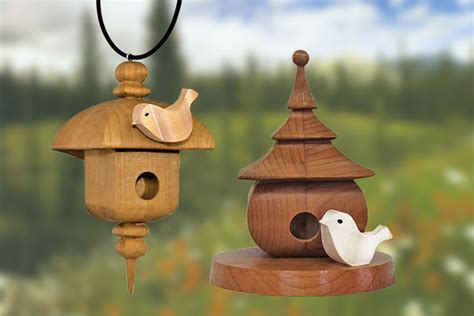 decorative birdhouses scroll  woodworking crafts