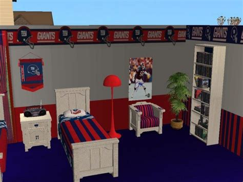 ny giants bedroom mod the sims newyork giants bedroom my favorite team