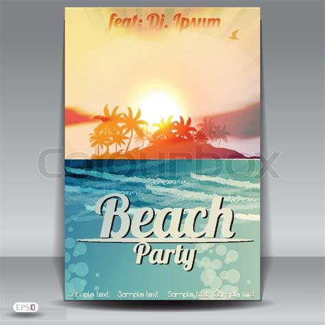 template flyer beach beach party flyer design template stock vector colourbox