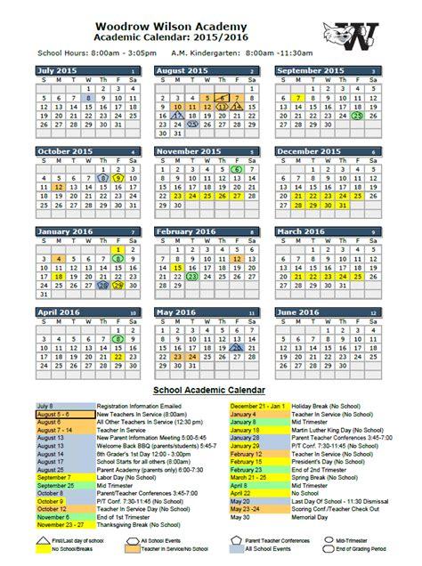 Ww Calendar 2015 And 2016 School Calendar Www Imgkid The Image
