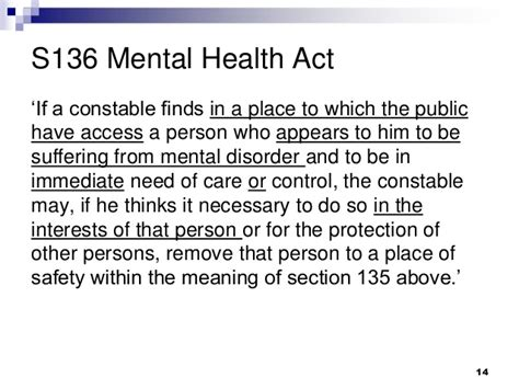 section 14 mental health act mental capacity act paul emerson ex start team maxine