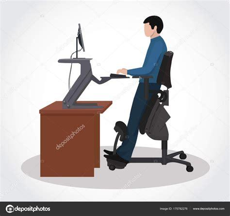 silla ergonomica ordenador un hombre que trabaja en un ordenador en una silla