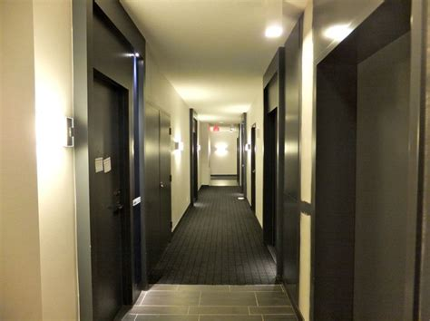 apartment hallway condminium hallways partially completed building